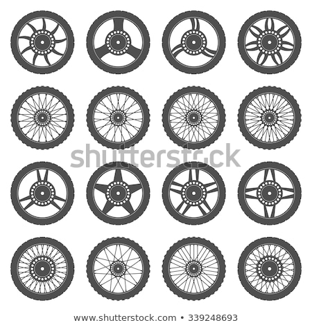 Stock photo: motorcycle wheel