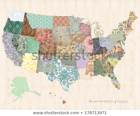 Nebraska vintage kaart centraal rivier 1920 Stockfoto © PixelsAway