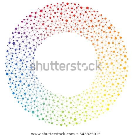 Resumen personas junto trabajo en equipo logotipo de la empresa Foto stock © shawlinmohd
