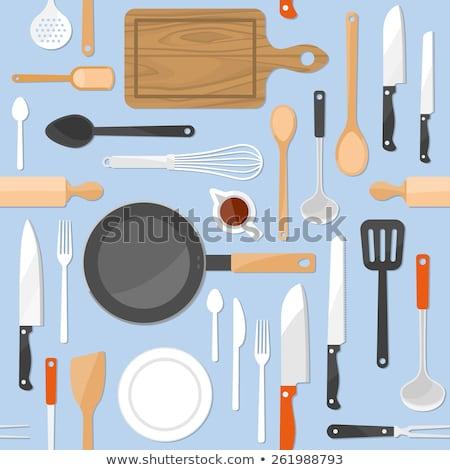 скатерть доске древесины таблице Сток-фото © marylooo