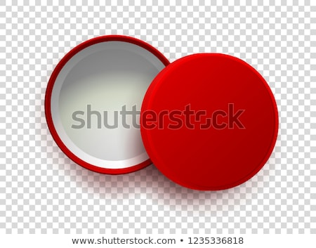Stock photo: Template white round open box