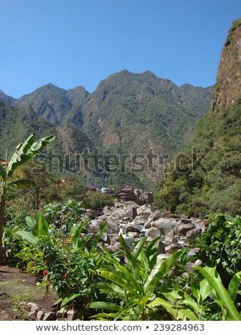 Stock fotó: Díszlet · körül · Machu · Picchu · folyó · ősi · város