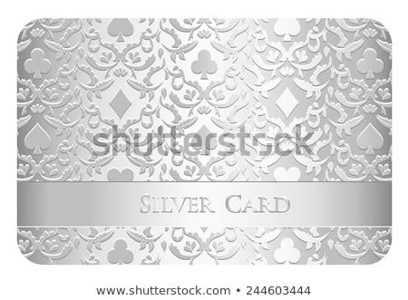 Luxe argent poker carte symboles ornement Photo stock © liliwhite