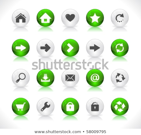 Enfocar fuera verde vector icono botón Foto stock © rizwanali3d