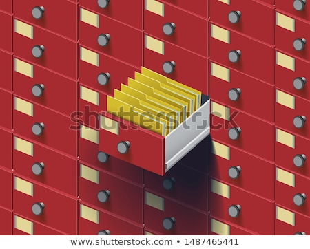 Open box with cards in the archive  Stock photo © Valeriy