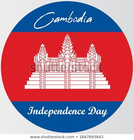 ボタン シンボル カンボジア フラグ 地図 白 ストックフォト © mayboro1964