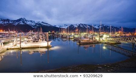 Boats on Smooth Resetrection Bay Seward Alaska Harbor Marina Stock photo © cboswell