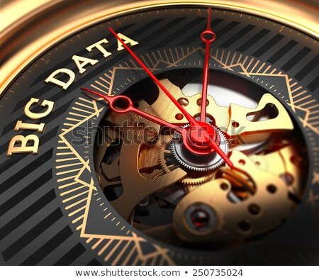 Big Data on Black-Golden Watch Face.  Stock photo © tashatuvango
