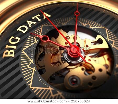 big data on black golden watch face stock photo © tashatuvango