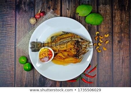 подготовленный · морем · бас · рыбы · приготовления · здоровья - Сток-фото © godfer