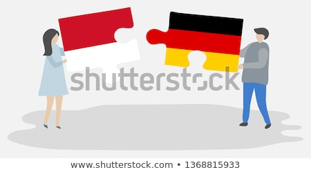 Indonesia and Germany Flags in puzzle Stock photo © Istanbul2009