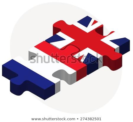 Francia Regno Unito bandiere puzzle isolato bianco Foto d'archivio © Istanbul2009