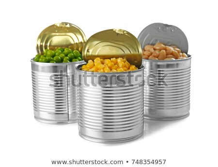 Canned food isolated on white background. Stock photo © borysshevchuk