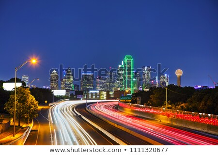 Dallas cityscape at the night time Stock photo © AndreyKr