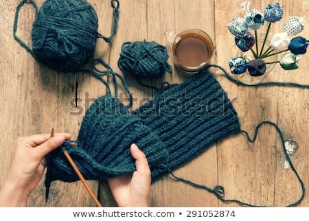 Knitting Wool Glove Christmas Present Winter Foto stock © xuanhuongho