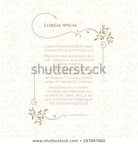 Stock photo Page borders decorative Stationery 6 styles with fabric