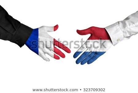 法國 荷蘭 握手 手 手 會議 商業照片 © Zerbor