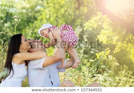 boldog · fiatal · család · idő · szabadtér · nyár - stock fotó © dashapetrenko