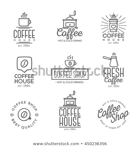 coffee house hipster vintage label stock photo © netkov1