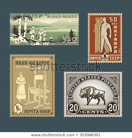 USSR Postage Stamps Stock photo © naumoid