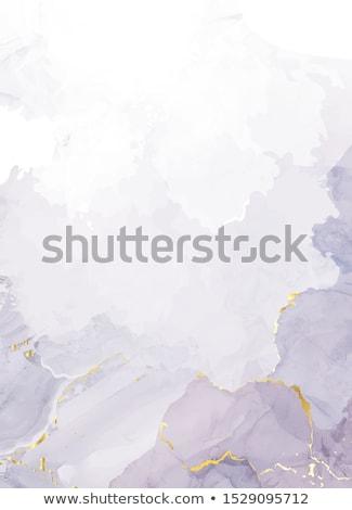 Viola agata isolato minerale bianco abstract Foto d'archivio © jonnysek
