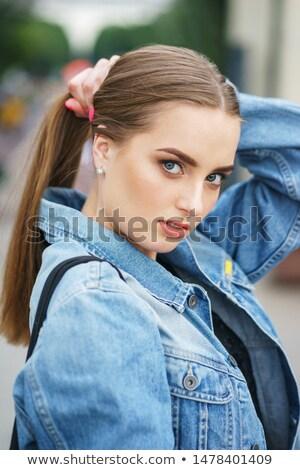 美少女 ポーズ カメラ 公園 肖像 女性 ストックフォト © nenetus