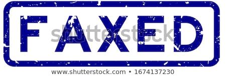 Fax szó játék üzletember telefon férfi Stock fotó © fuzzbones0