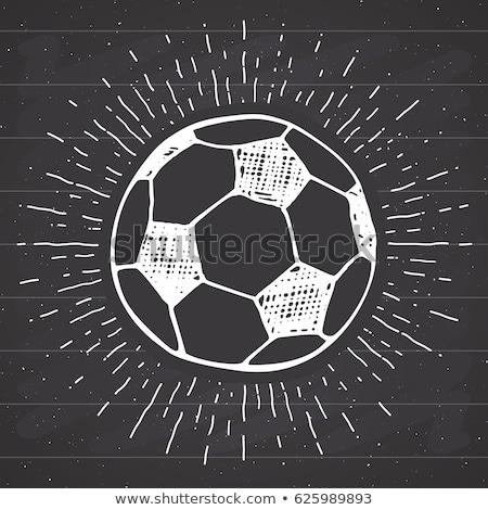 futball · címer · futball · kitűző · grafikus · szöveg - stock fotó © rastudio