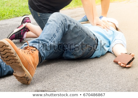 First Aid. Medical Concept with Blurred Background. Stock photo © tashatuvango