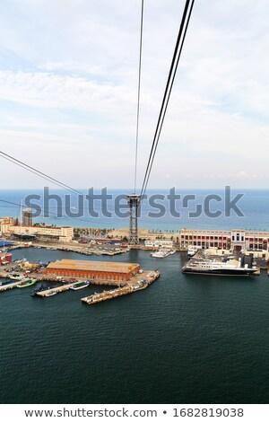 yat · kıyı · deniz · manzarası · yaz · mavi · seyahat - stok fotoğraf © lunamarina