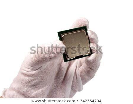 eletrônico · coleção · computador · cpu · isolado · branco - foto stock © nemalo
