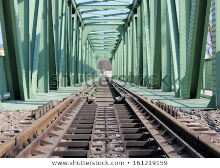 iron railway bridge rails perspective view stock photo © paha_l