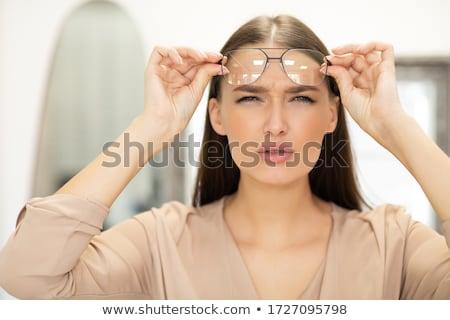 Diagnose medische afgedrukt wazig tekst Rood Stockfoto © tashatuvango