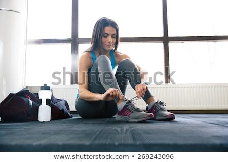 красивая девушка спортивная одежда площадка девушки Sexy тело Сток-фото © RuslanOmega