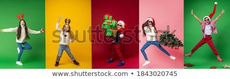 boy with santa claus hat stock photo © inxti