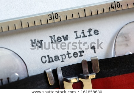 New Diet Chapter One Typewriter Stock photo © ivelin