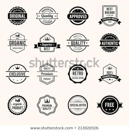 Approvato sigillo illustrazione isolato design sfondo Foto d'archivio © get4net