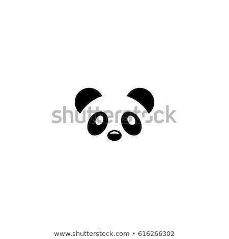 Stockfoto: Panda · icon · gezicht · leven · jonge · schone