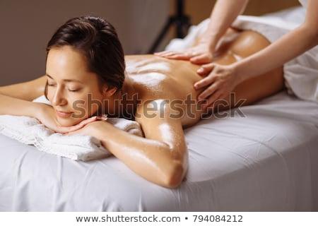 vonzó · nő · kezelés · fürdő · központ · közelkép · vonzó - stock fotó © wavebreak_media
