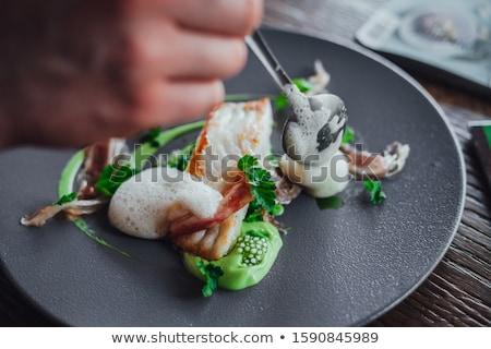 asparagus in white plate minimalist food concept Stock photo © lunamarina