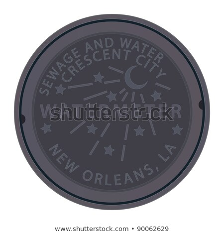 Water manhole cover in New Orleans Stock photo © Vividrange
