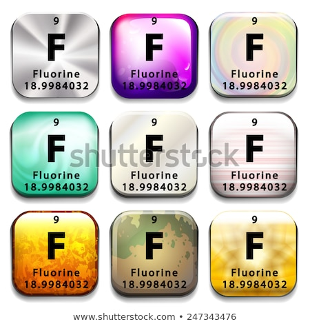 A button showing the element Fluorine Stock photo © bluering