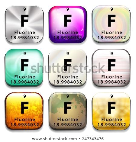 Pulsante elemento tecnologia sfondo piatto Foto d'archivio © bluering