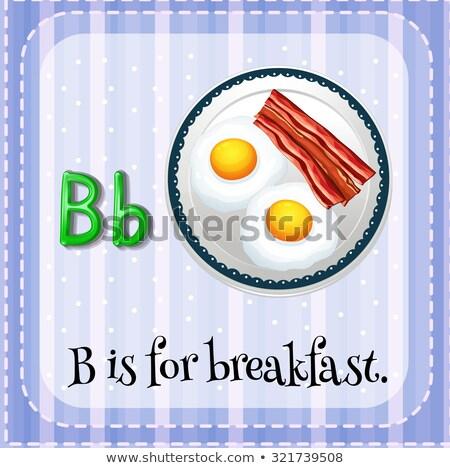 Сток-фото: письме · завтрак · иллюстрация · продовольствие · фон · образование