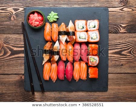 Sashimi sushi affumicato anguilla gamberetti Foto d'archivio © zhekos