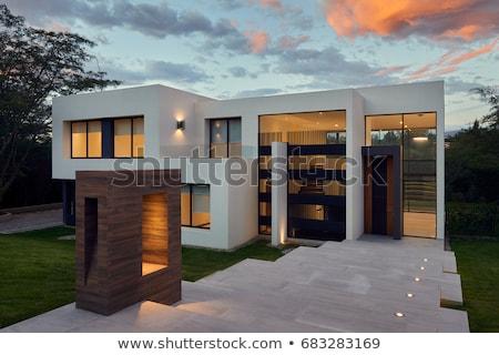 grande · costruzione · impianti · bianco · modello · home - foto d'archivio © bluering