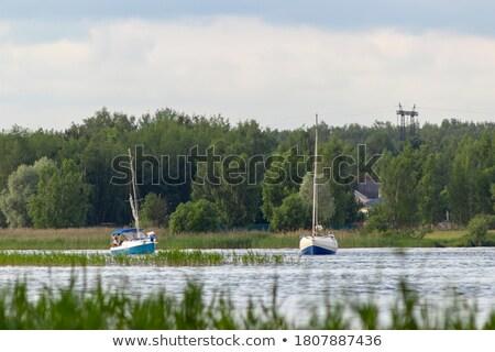 Vela canale illustrazione panorama sfondo Foto d'archivio © bluering