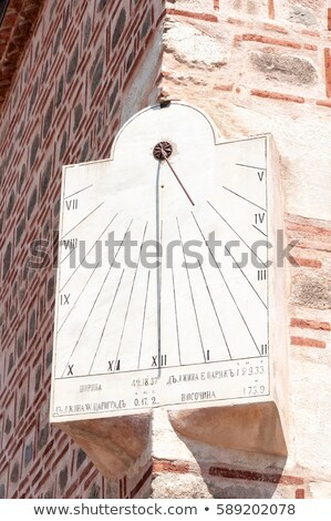 Zonnewijzer moskee zon klok palmboom hoek Stockfoto © vilevi