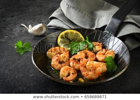Camarón perejil pan cena limón comida Foto stock © M-studio