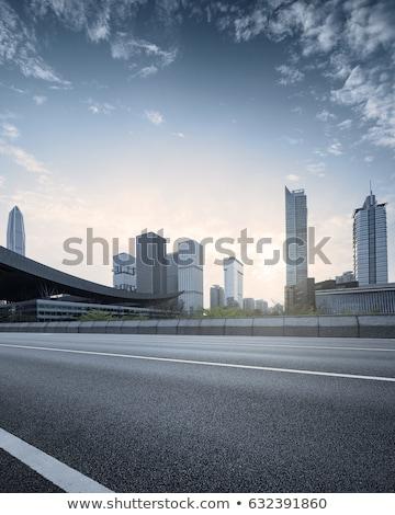 üres kettő sáv aszfalt út autópálya Stock fotó © stevanovicigor